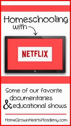 Homeschooling with Netflix - Ok maybe not homeschooling with TV but supplementing with good educational shows here and there. #homeschool