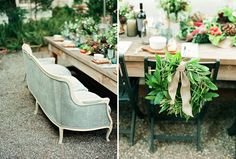 our Farm-to-Table Wedding Inspiration bay leaf wreath & herb w/ heirloom table scape as featured on Green Wedding Shoes blog by PANACEA event floral design www.panaceaflowery.com