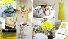 grey succulents wedding | Summer Wedding Colors: Grey and Chartreuse