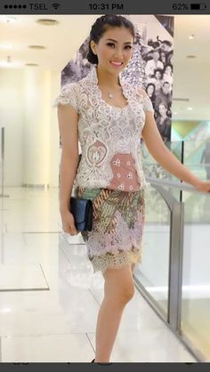 Kebaya Pink, Kebaya Lace, Kebaya Dress, Batik Kebaya, Dress Pesta, Batik Dress, Batik Fashion, Ethnic Fashion, Kebaya Modern Hijab