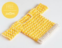 Croby Patterns | FREE Crochet Pattern – Crochet Baby Sweater Summer Sun