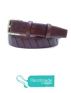 "Brown Adjustable Leather Belt 126 cm (49.61"") BLT828 from Nazo Design… #handmadeatamazon #nazodesign"