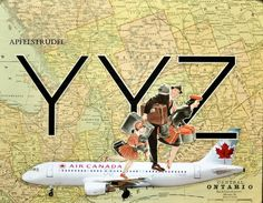 POSTER ARTWORK print. Up in the Air Series. YYZ. Pearson International Airport, Toronto, Canada 12x15