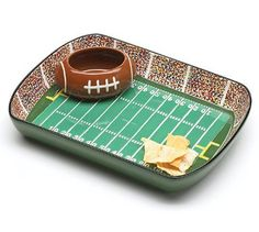 Football Stadium Chip and Dip Serving Set | Best Gift Ideas for Boyfriend's Birthday