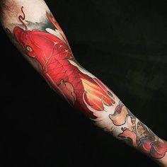 Chronic Ink Tattoo - Toronto Tattoo Koi fish tattoo done by Tristen. #cultural #tattoo #tattoos