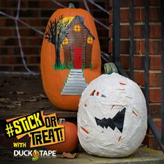 Enter the 2015 Duck Tape® #StickorTreat Contest! Decorate your jack-o-lantern using Duck Tape® and Tweet or Instagram a pic of your creation using #StickorTreat and @theduckbrand for a chance to win $1,000! Entry ends Oct, 31st 2015. See Official Rules for details at http://stickortreat.com