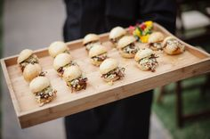 sliders at cocktail hour! | Caroline + Ben #wedding