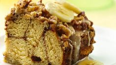 Cinnamon rolls are inspired by banana bread in this easy breakfast treat.