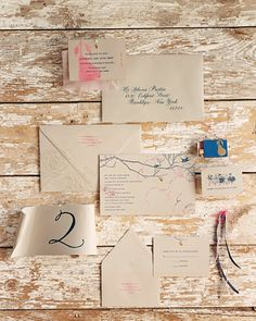 cool invitations...pick a motif, like a pear - get a stamp or stencil over brown, natural looking paper or burlap