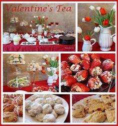 Valentine's Tea Party #tea #party #valentines