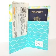 Christmas gift for traveler, newlywed. Use code SHOPSMALL150 for discount! Family passport cover / family passport case by BellflowerTextiles #shopsmall150