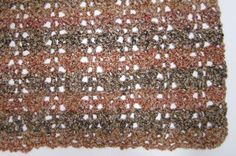 Quick Shell and Lace Crochet Blanket http://stitcheryprojects.com/2013/04/29/no-beginning-chain-quick-shell-and-lace-blanket/