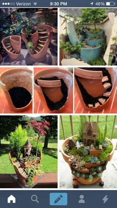 What to do with old broken terra cotta pots!!