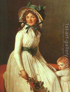 Jacques Louis David:Portrait of Madame Seriziat 1795