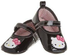 Rising Star Baby-girls Newborn Girls Hello Kitty Mary Jane Strap Shoes $10.00