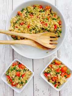 Egg fried cauliflower rice , healthy, easy, vegetarian and takes 10 minutes to make