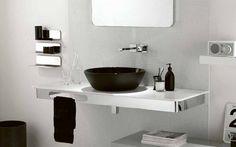 Decoração de Banheiro Preto com Branco, Fotos e Dicas