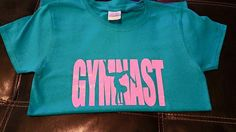 Gymnast Shirt// Gymnastics shirt// Cute Gymnast shirt with glitter vinyl