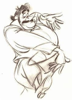 [from the first drawing done by Frank Thomas in the development of the characters for Peter Pan]
