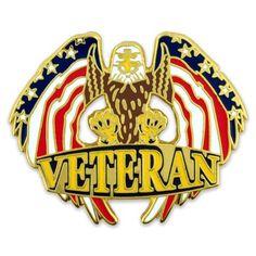 36549faad7a Veteran Eagle Pin. PinMart. Military VeteransVeterans ...