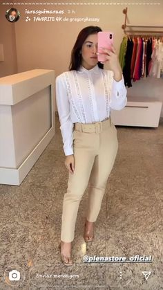 Office Outfits, Casual Outfits, Fashion Outfits, Womens Fashion, Outfits Con Camisa, Office Fashion, Work Attire, Asian Fashion, Casual Looks