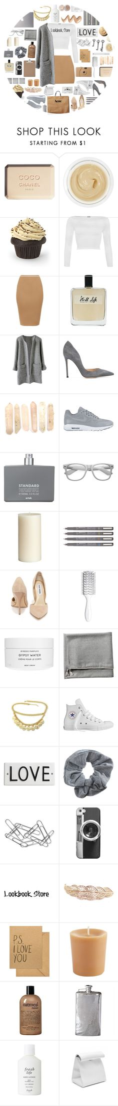 """""""The Lookbook Store! (Rocks)"""" by stelbell ❤ liked on Polyvore featuring Chanel, Chantecaille, WearAll, Olfactive Studio, Gianvito Rossi, NIKE, Comme des Garçons, Retrò, Samsung and Pier 1 Imports"""
