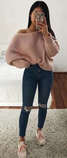 Popular Spring Outfits To Inspire You - - kimono - Modetrends Basic Outfits, Winter Fashion Outfits, Simple Outfits, Outfits For Teens, Stylish Outfits, Spring Outfits, Popular Outfits, Fashion 2016, Latest Fashion