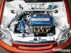 Htup 1208 16 o+2000 honda civic sedan+B16A engine