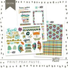 Thank-FULL | Bible Journaling Printable Ephemera by Illustrated Faith Amy Bruce, Faith Bible, Whimsical Fashion, Illustrated Faith, Give Thanks, Just Love, Ephemera, Pray, How To Draw Hands