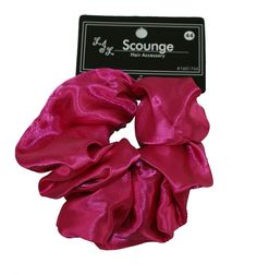 Big Satin Scrunchy (Hot Pink) -- This is an Amazon Affiliate link. You can find more details by visiting the image link.