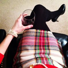 Don't be tardy for the party! And don't forget your holiday tartan, either. #Christmas #Holiday