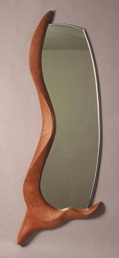 like the idea of it only framimg a couple of side. could make it look like it has grown around the mirror! - jon Open Frame Wall Mirror ~ Carved from Cherry wood / Custom Furniture OnLine