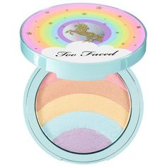 TOO FACED Rainbow Strobe Highlighter – Life's A Festival Collection: An all-over rainbow highlighter that can be used on the face and body to create the most colorful prismatic finish ever. #Festival