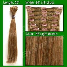 #8 Light Brown - 20 inch Remi