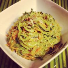 our latest creation with our new spiral slicer! Spiral Pasta, Veggie Recipes, Cabbage, Spaghetti, Curly, Sugar, Vegetables, Healthy, Ethnic Recipes