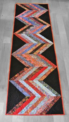 Scrappy Chevron Bed Runner by Cheri Good Design
