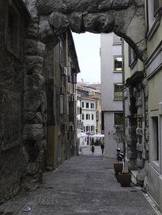 Roman Arch in Rijeka, Croatia