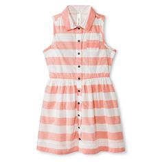 Girls� Striped A-Line Dress