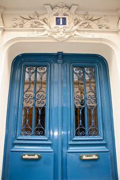 Paris door, Blue Nº1
