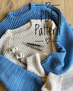 Diy Crochet Clothes, Crochet Crafts, Crochet Projects, Crochet Jumper, Knit Crochet, Fashion Sewing, Crochet Fashion, Crochet For Boys, Boku No Hero Academy