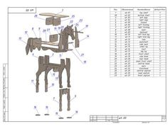 cnc vector for plywood horse coffee table model dxf pdf 8 Baby Room Furniture, Diy Furniture Plans, Coffee Table 3d Model, Woodworking Plans, Woodworking Projects, Diy Storage Boxes, Carpenter Work, Cardboard Sculpture, 3d Cnc