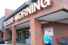 Dog trainer and pet author Paris Permenter heads into Tuesday Morning to check out the assortment of pet products.