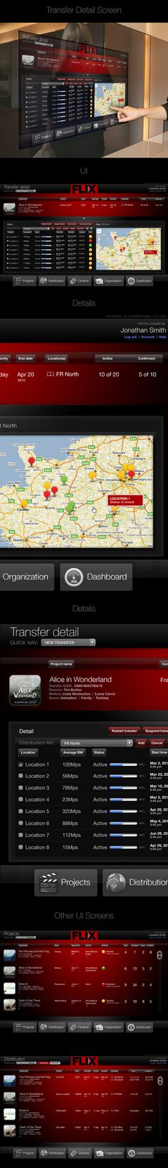 FLIX Touchscreen Interface by Thomas Moeller, via Behance