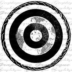 And we got loads more! Archery Logo, Bullseye Tattoo, Arrow Tattoos, Tattos, Marquesan Tattoos, Burlap Fabric, Collage Sheet, Digital Collage, Digital Image
