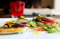 Pan seared dorade fillet with red manigold, fava beans, roasted pine kernel and spring garlic seasoning Spring Garlic, Fava Beans, Lunch Menu, Pine, Sandwiches, Roast, Appetizers, Restaurant, Business
