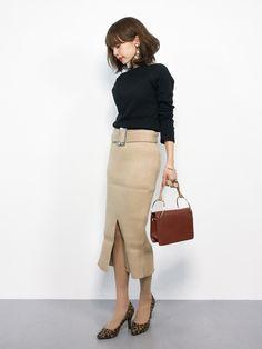 Office Fashion, Business Fashion, Work Fashion, Skirt Fashion, Paris Fashion, Fashion Outfits, Womens Fashion, Fashion Jewelry, Japanese Outfits