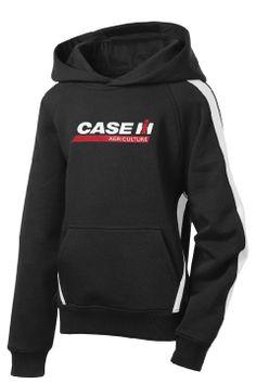 Case Ih Logo Youth Side Stripe Hooded Sweatshirt Hooded Sweatshirts Sweatshirts Side Stripe