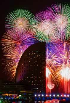 Best of Yokohama, Japan Fireworks Pictures, Fire Works, 4th Of July Fireworks, Hanabi, Light Of Life, Shows, Yokohama, Sparklers, Japan Travel