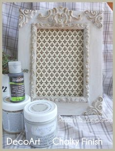 Ros and Roses Chalky Finish Frame #decoartprojects #decoartmedia #chalkyfinish
