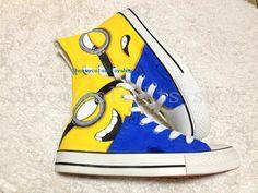 minion Converse shoes Despicable Me minion shoes hand-painted High-top Converse